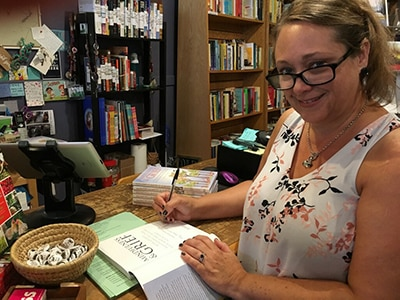 heather stang author of mindfulness grief book signing