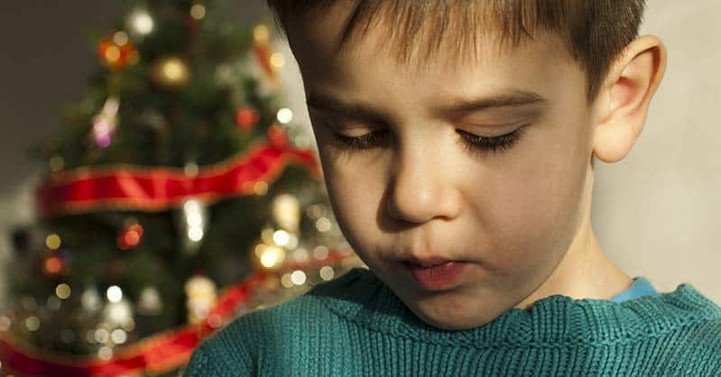 grieving children during the holidays